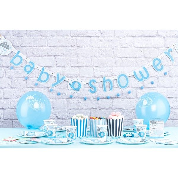 Babyshower Mottobox für Jungen - 94-teilig