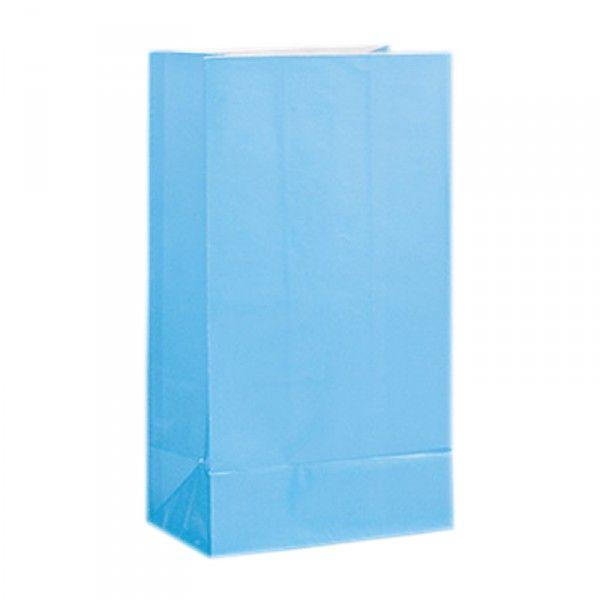 Partytüten aus Papier, hellblau, 12 Stück
