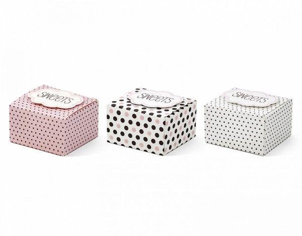 Geschenkboxen Sweets, 6 Stück