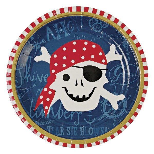 Pappteller Pirat, Ø 17cm, 12 Stück
