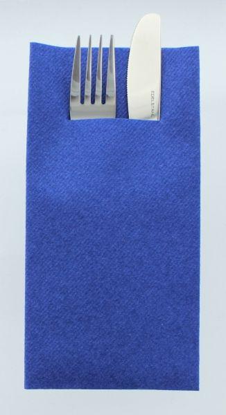 Besteckservietten Royalblau, 40cm, 12 Stück