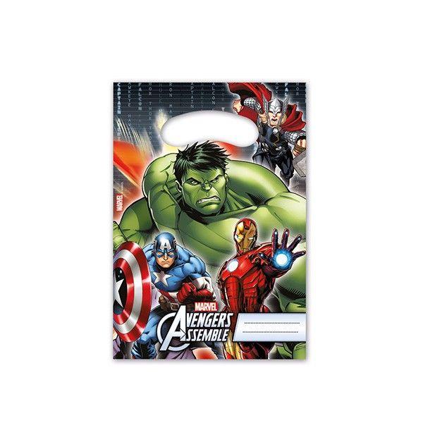 Partytüten Avengers Power, 6 Stück
