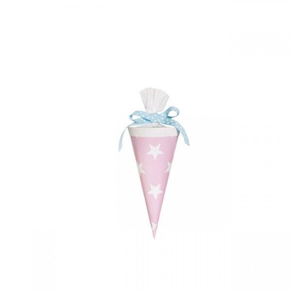 Schultüte Sterne, rosa, 15cm