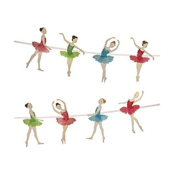 Ballett Girlande 2,5 Meter, 8 Anhänger