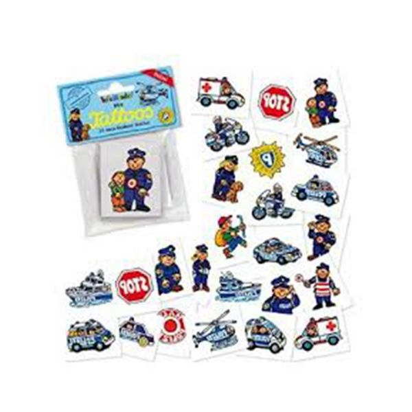 Mini-Tattoo-Set Polizei, 24 Motive X X
