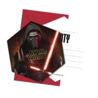 Einladung mit Umschlag Star Wars, 6 Stück