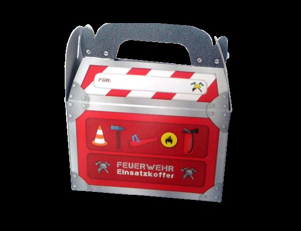 Geschenkboxen Feuerwehr, 15x8x9,5cm, 6 Stück
