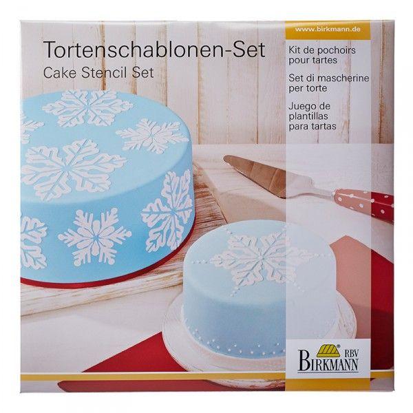 Torten Schablonen-Set Eiskristall, 2-teilig