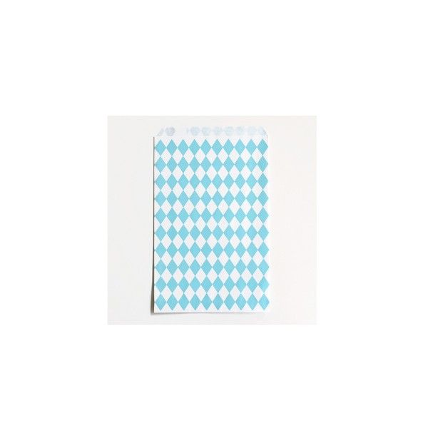 Papiertuete-blau-Raute