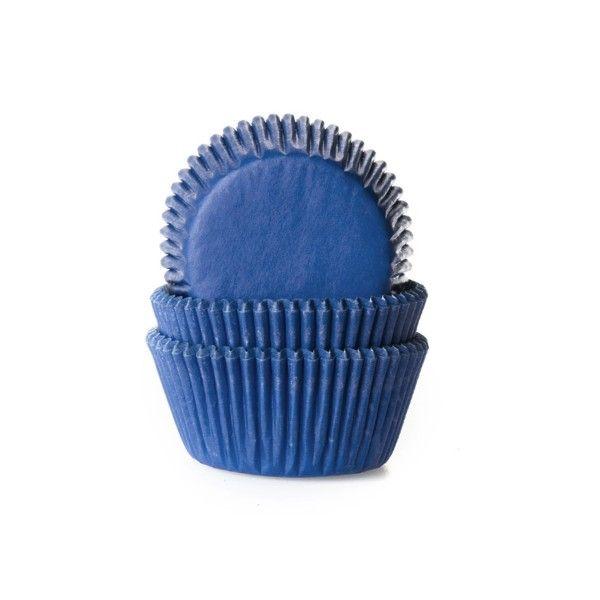 Muffinförmchen, blau, 50 Stück