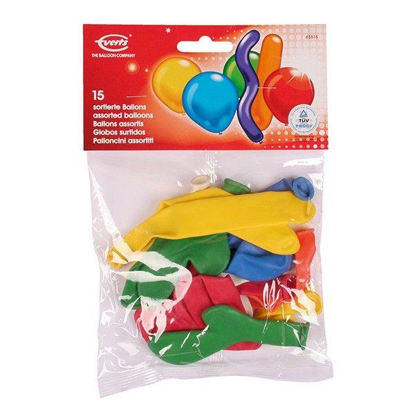 Luftballons, Bunt sortiert, 15 Stück