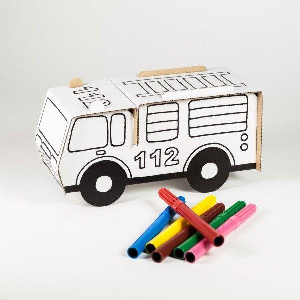 Bastelset Feuerwehrauto inkl. 6 Stifte