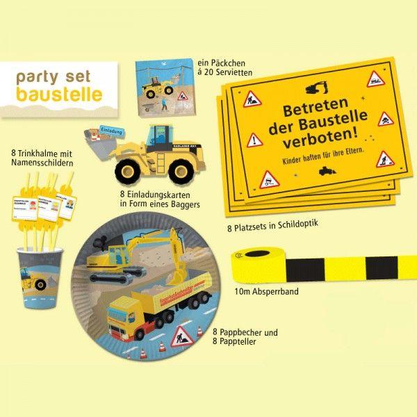 Party-Set Baustelle, 34-teilig