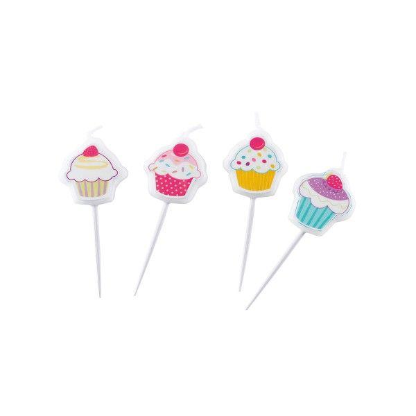 Minikerzen Cupcakes, 4 Stück