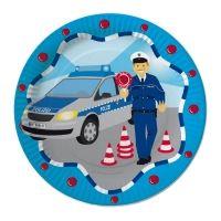Pappteller Polizei,