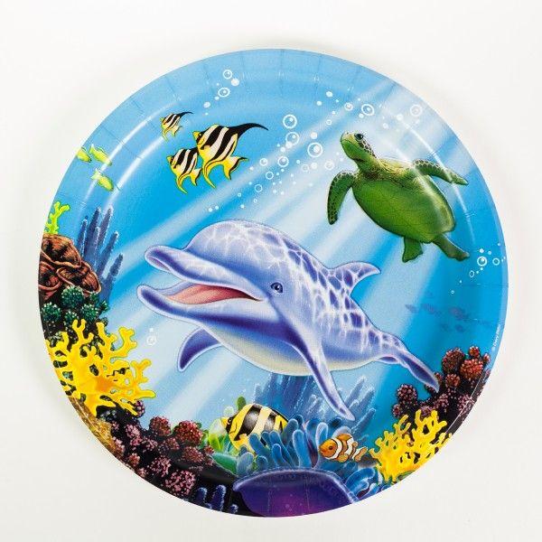 Pappteller Unterwasserwelt