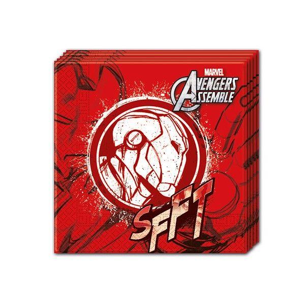 T1142336-Servietten-Avengers-Teen-Iron-Man-33cm-20-Stueck