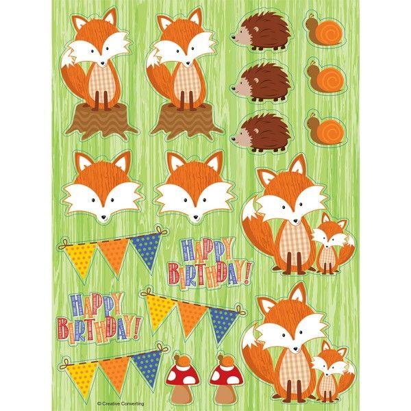 Sticker Fuchs, 4 Bögen X X