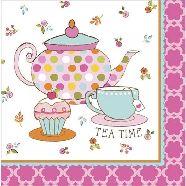Servietten Tee Party, 33cm, 16 Stück