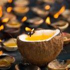 Hawaiigeburtstag-Dekoration-Kerze-Anleitung