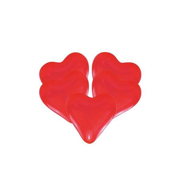Luftballons Herzen, 5 Stück