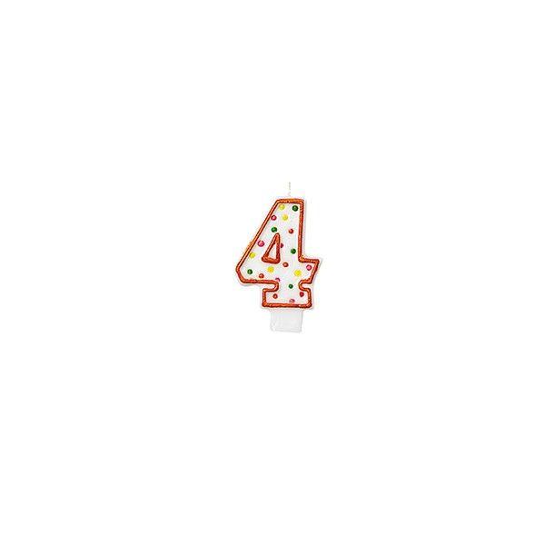 Zahlenkerze 4