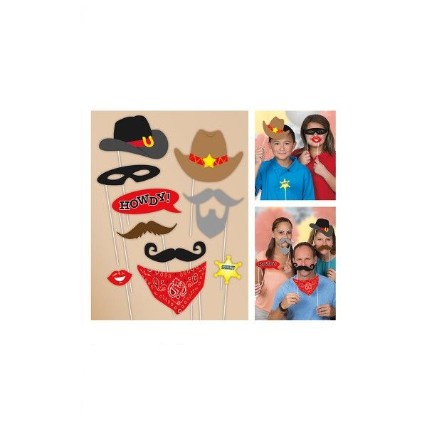 T1142066-Photo-Booth-Set-Cowboy-10-teilig