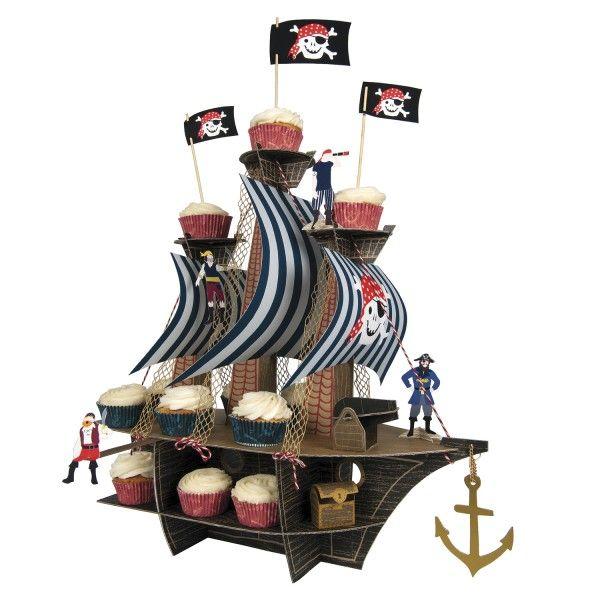 Muffinständer Piratenschiff, 2-stöckig
