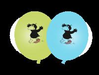 Luftballons der kleine Rabe Socke, 8 Stück
