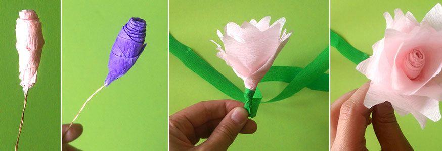 Schritt für Schritt zum Blütenzauber aus Krepp.