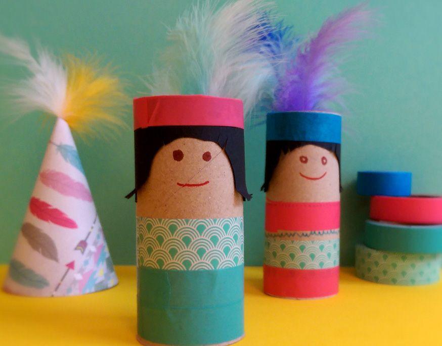 Diese kleinen Pappindianer sind ein echter Bastelhit. • Umsetzung und Foto: Katharina Looks