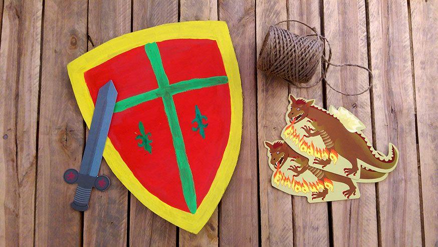 Bastelidee für die Ritterparty: ein eigenes Ritterschild!