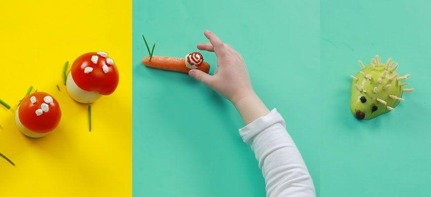 So holen Sie sich ruck, zuck Pilz, Schnecke und Igel ins Haus. Keine Sorge, diese Snacks sind ganz schnell verputzt.• Foto: U. Miers, Foodproduktion: Dagmar von Cramm