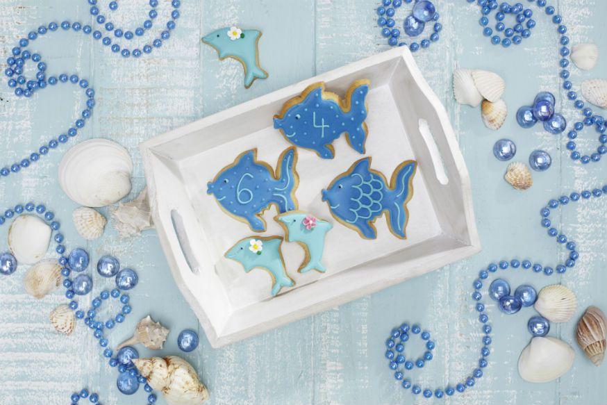 Süße Kekse für Meerjungfrauen und ihre Unterwasserfreunde. • Foto & Styling: Thordis Rüggeberg, Foodproduktion: Sarah-Christine Brandt