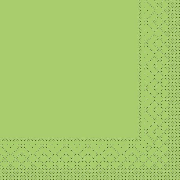 Servietten Kiwi grün, 33cm, 20 Stück