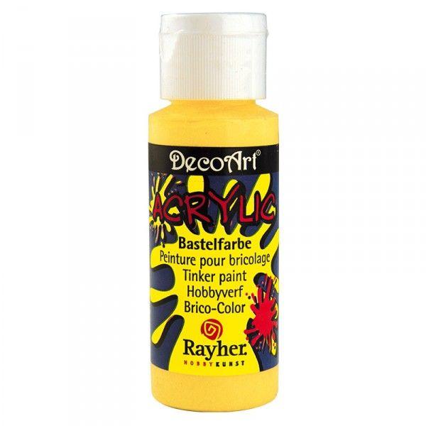 Acrylic-Bastelfarbe, gelb