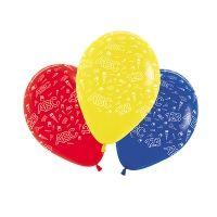 Luftballons Schulanfang bunt, ø 30 cm, 5 Stück