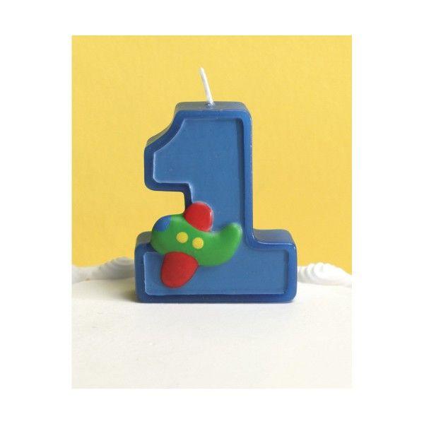 Kerze 1. Geburtstag, 6,5cm