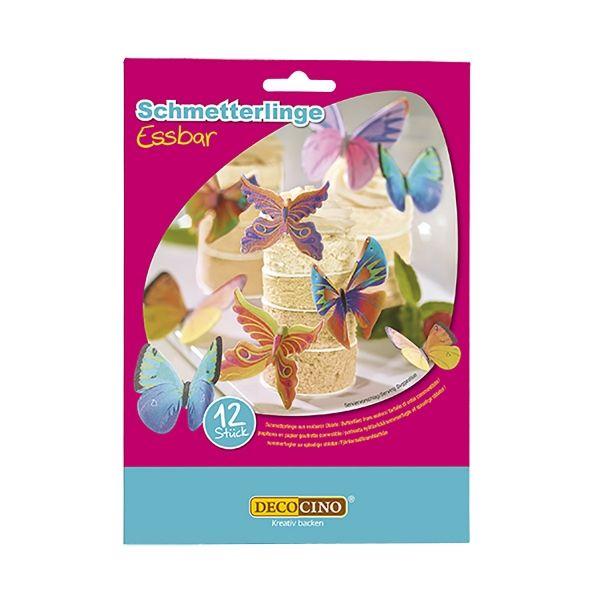Essbare Schmetterlinge, 12 Stück