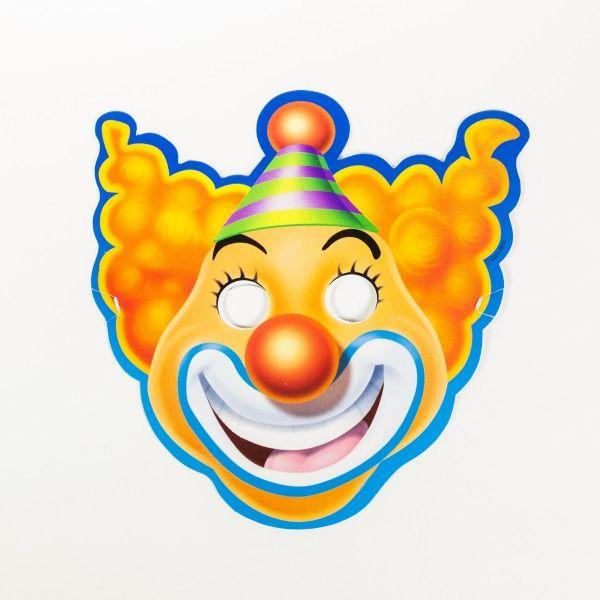 Papiermasken Zirkus, 8 Stück
