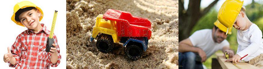 Viel Spaß auf dem Baustellengeburtstag! • Fotos: julaszka, Sajajahe,  Halfpoint / Fotolia.com