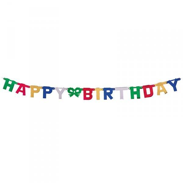 Girlande Happy Birthday, 1,5m