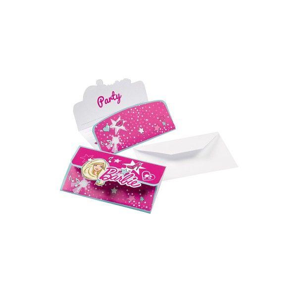 T1142217-Einladungskarten-Barbie-8-Stueck