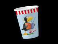 Pappbecher der kleine Rabe Socke, 200 ml, 8 Stück