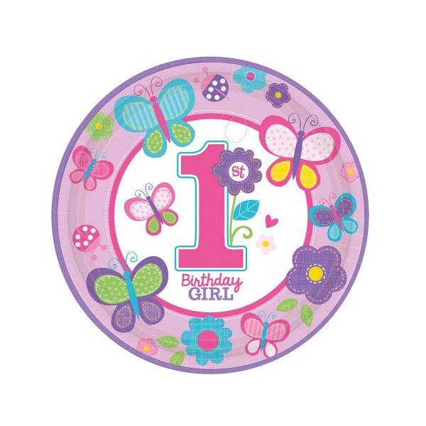 Pappteller 1. Geburtstag,