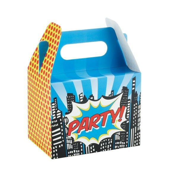 Geschenkboxen Superheld, 10x15x20cm, 5 Stück
