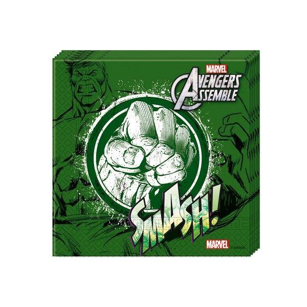 T1142335-Servietten-Avengers-Teen-Hulk-33cm-20-Stueck
