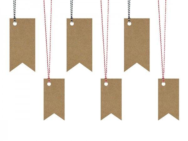 Geschenkanhänger aus Kraftpapier, Woodland, 6 Stück