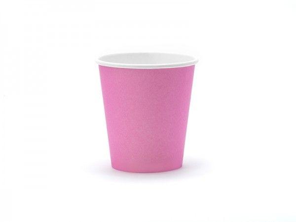 Pappbecher, Pink, 6 Stück, 160 ml