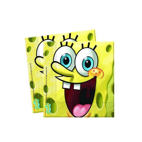 SpongeBobServietten, 33x33cm, 20 St